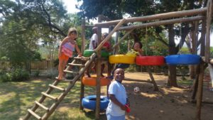 kids on a playground at creches in nelspruit kiaatridge